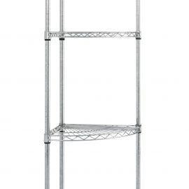 Chrome wire corner unit