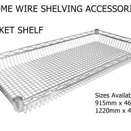 Wire shelving basket shelf