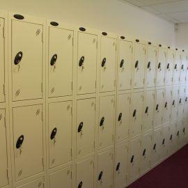 Staff locker room installation