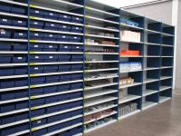 Small parts storage shelving