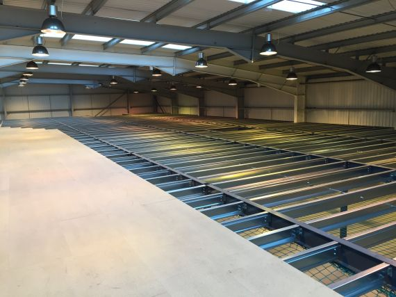 Shelf space - mezzanine floors