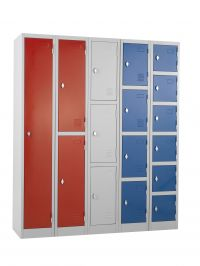 Metal staff storage lockers