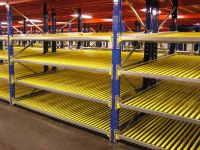Carton flow racking from shelf space
