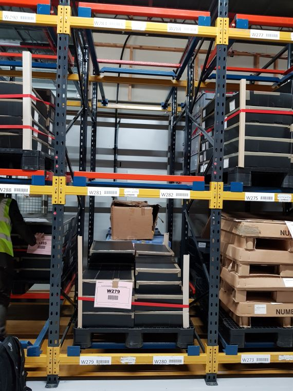 Shelf space supplies push back racking