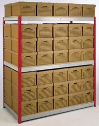 Archive box static shelving