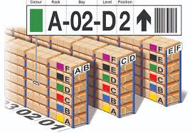 Pallet racking identification labels
