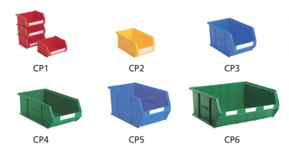 Small parts storage bins