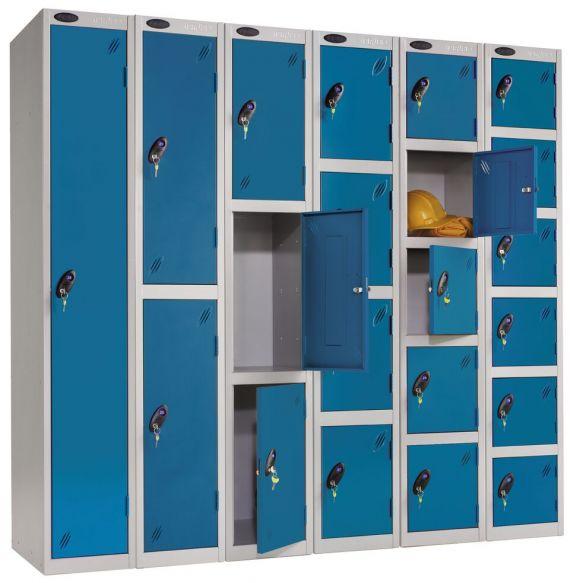 Metal staff storage lockers